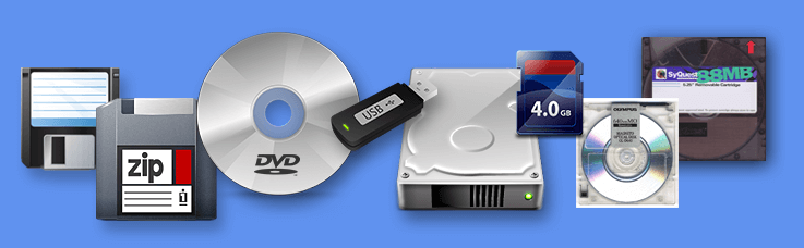 Data Rescued from Old Disks and Media - Copy Data From Old Disks and Media - Transfer Files Off of Disks and Cartridges